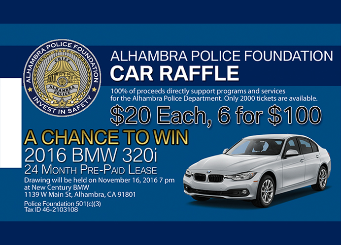 Alhambra Police Foundation Car Raffle