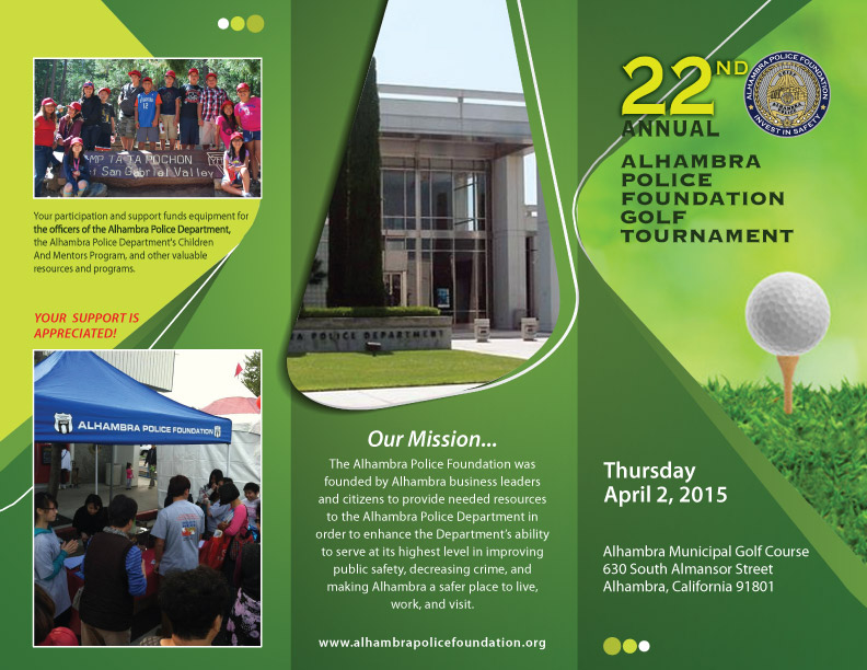 Save The Date - April 2nd 2015 - 22nd Annual Golf Tournament