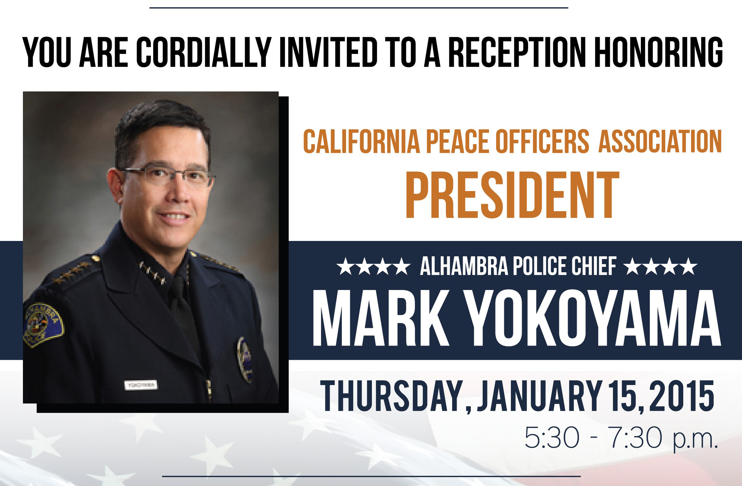 Reception Honoring Alhambra Police Chief – Mark Yokoyama