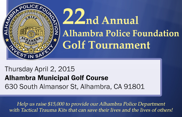 22nd Annual Golf Tournament – Thursday April 2, 2015